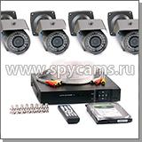 Готовые проводные комплекты уличного видеонаблюдения