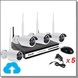 Беспроводной комплект видеонаблюдения на 4 камеры с записью в облако - Kvadro Vision Cloud