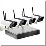 Беспроводной комплект видеонаблюдения на 4 камеры на солнечной батарее Kvadro Vision Solar - 2.0 (Lux)
