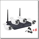 Беспроводной комплект видеонаблюдения для холодных помещений на 4 камеры Kvadro Vision Sparta-P - 2.0