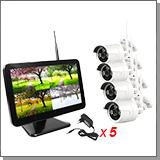 Беспроводной комплект видеонаблюдения с определением лица для улицы на 4 камеры «Kvadro Vision Street MiB - 2.0 (Face Detect)»