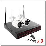 Беспроводной комплект видеонаблюдения для улицы на 2 камеры «Twin Vision Street - 1.0»