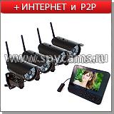 Комплект IP видеонаблюдения 2 и 4 камеры