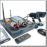 Готовые беспроводные комплекты для видеонаблюдения в помещениеи на улице