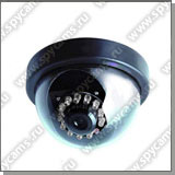 Купольная камера: антивандальная купольная цветная CCD камера (день/ночь): JK-210