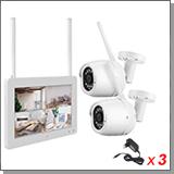 Беспроводной комплект видеонаблюдения на 2 камеры с монитором Twin Vision Planshet - 2.0 (Lux)